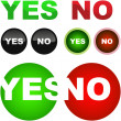 Buttons with yes and no. - Stock Vector