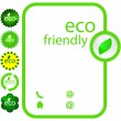 Royalty-Free Stock Imagen vectorial: Set of eco friendly, natural and organic labels. Vector great collection.