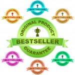 BESTSELLER. Vector guarantee label. Vector set. — Stock Vector #1439422