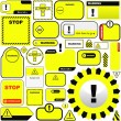 Warning vector signs Vector template. Great collection. - Stock Vector