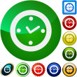 Clock buttons — Image vectorielle