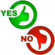 Yes and No icon. - Image vectorielle