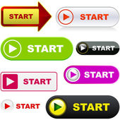 Start button. — Stock Vector