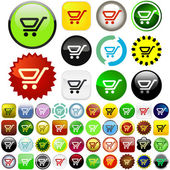 Shopping button. — Stock Vector