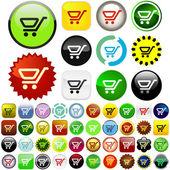 Shopping button. — Stock Vector