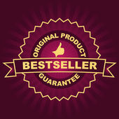 Emblema de best seller. — Vector de stock