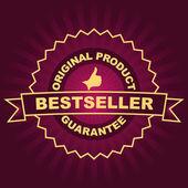 Godło bestsellerem. — Wektor stockowy