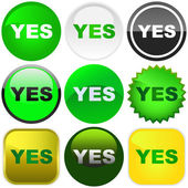 YES button set — Stock Vector