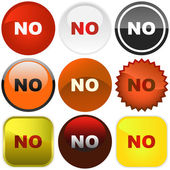 NO buttons. — Stock Vector