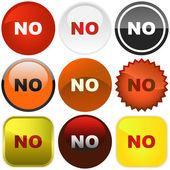 NO buttons. — Stock Vector
