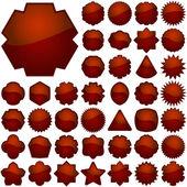 красные элементы — Cтоковый вектор