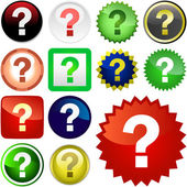 Question buttons — Stock Vector