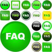 FAQ buttons. — Stock Vector