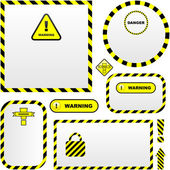 Warning vector banner. — Stock Vector