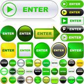Enter button. — Stock Vector