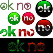 OK and NO icon. — Stock Vector