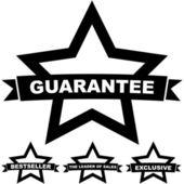 Vektor garantimärke. — Stockvektor