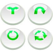 Arrow buttons for web. Vector set. — Stock Vector