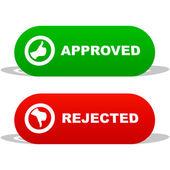 Icônes approuvés et rejetés. — Vecteur