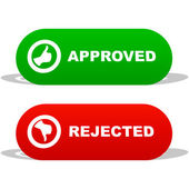 Approved and rejected icons. — Stock Vector