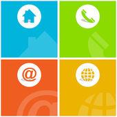 Contact elements for design. Vector set. — Stock Vector