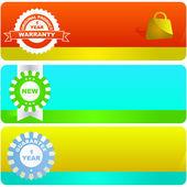 Vektor banners för webben — Stockvektor