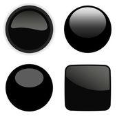 Black elements set. Vector illustration. — Stock Vector
