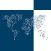 Mapa de vetor do mundo. fundo de negócios. — Vetor de Stock