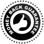 Vector guarantee label — Stock Vector