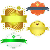 Collection of shields. Vector set — Stock Vector