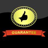 Vector guarantee label. — Stock Vector
