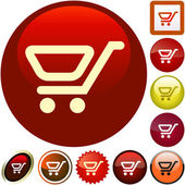 Shopping button. Vector collection — Stock Vector