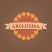 EXCLUSIVE. Vector label. — Stock Vector