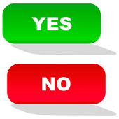 Yes and No button for web. — Stock Vector
