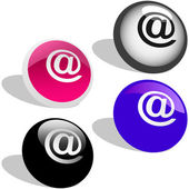 E-mail icon set for web. — 图库矢量图片