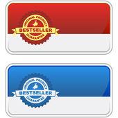 Bestseller emblem. Vector illustration — Stock Vector