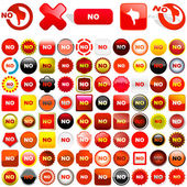 Rejected vector buttons — Stock Vector