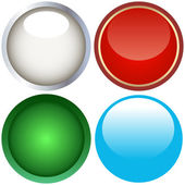 Web buttons for design. Vector set. — Vector de stock