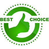 Best choice vector label. — Stockvektor