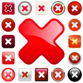 Rejected vector buttons. — Stock Vector