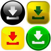 Download. Vector button for design — Stock Vector