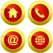 Contact buttons for web — Stock Vector