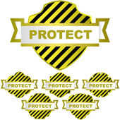 PROTECT. Vector elements — Stock Vector