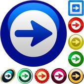 Arrow set vector. collection of web buttons — Stock Vector