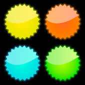 Web buttons for design. Vector set. — 图库矢量图片