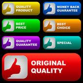 Zestaw elementów projektu na sprzedaż. — Wektor stockowy