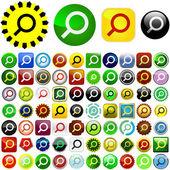 Vector search icons. Vector set. — Stock Vector