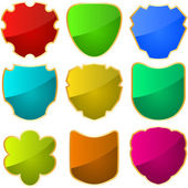 Vector shields for design. Black collection — Stock Vector