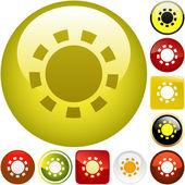 Gear vector button. Vector set. — Stock Vector