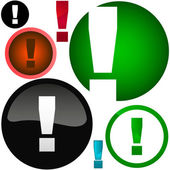 Vector exclamation set for web. — Stock Vector